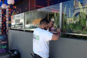 Applying anti-graffiti film