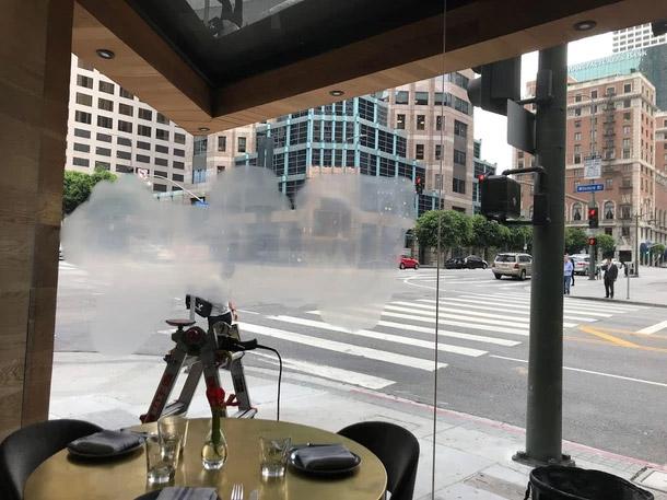 Glass Graffiti Removal