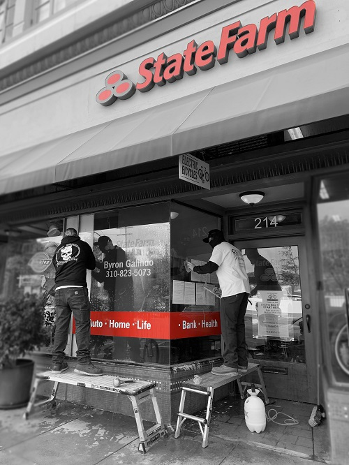 State Farm uses CC Surface Restoration to keep their view graffiti free